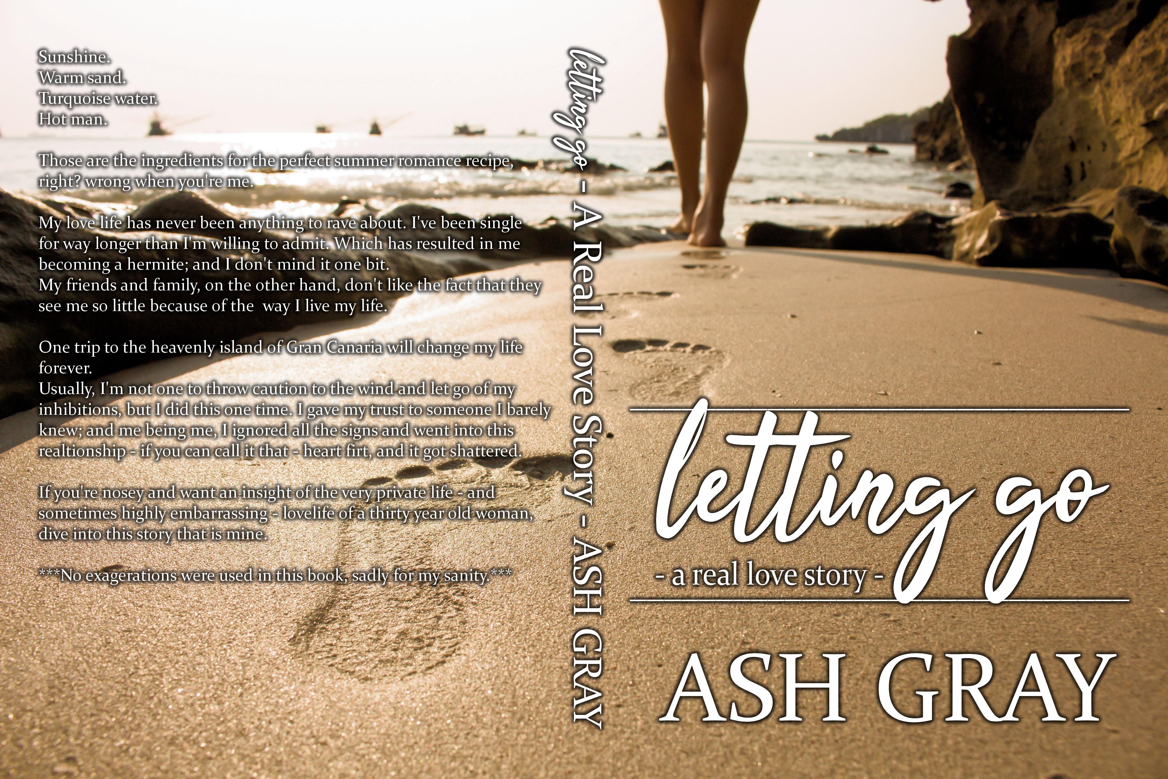 Letting Go - Ash Gray Paperback mock up